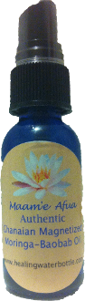 BLUE LOTUS MAGNETIZED MASSAGE OIL with MORINGA and BAOBOB OIL